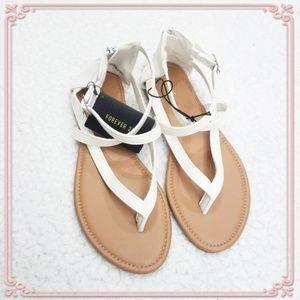NEW White Crisscross Sandals